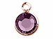 Swarovski Crystal Rose Gold Plated Birthstone Channel Charms - Amethyst
