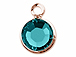 Swarovski Crystal Rose Gold Plated Birthstone Channel Charms - Blue Zircon