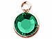 Swarovski Crystal Rose Gold Plated Birthstone Channel Charms - Emerald