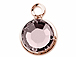 Swarovski Crystal Rose Gold Plated Birthstone Channel Charms - Light Amethyst