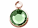 Swarovski Crystal Rose Gold Plated Birthstone Channel Charms - Peridot